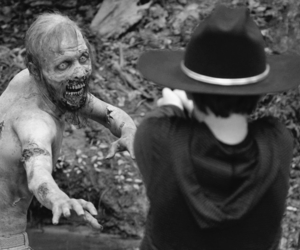 black and white and the walking dead image