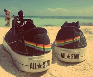 all star, converse, and Pink Floyd image