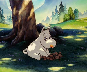 90s, childhood, and moomin image