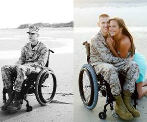 couple, marine, and military image