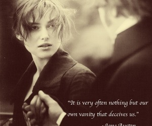 black and white, jane austen, and keira knightley image