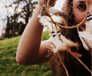 girl, photography, and dream catcher image