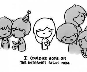 internet, party, and home image