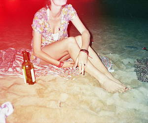 beach, girl, and party image