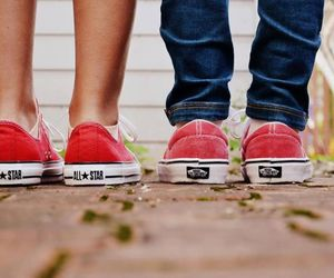 vans, converse, and red image
