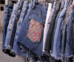 floral, jeans, and fashion image