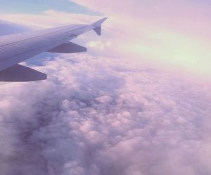 clouds, flight, and holidays image