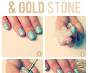 nails, gold, and diy image