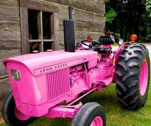 pink and tractor image
