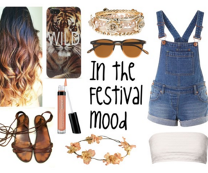 outfit, Polyvore, and festival mood image