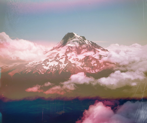 mountains, sky, and clouds image