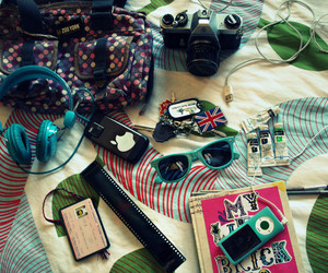 ipod, camera, and bag image
