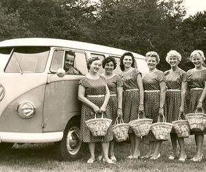 1950, bus, and combi image