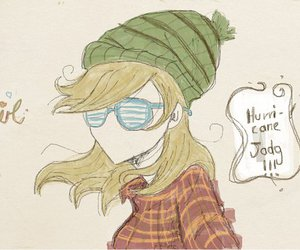 girl, hipster, and odosketch image