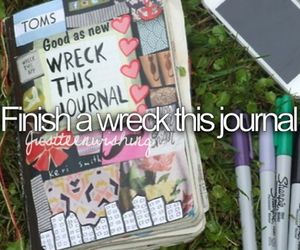 wreck this journal, summer, and bucket list image