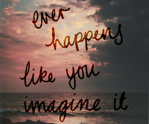 quote, imagine, and life image