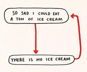 quote, funny, and ice cream image