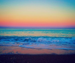 beach, colors, and ocean image