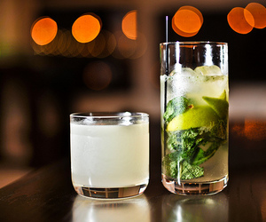 drink, mojito, and lime image