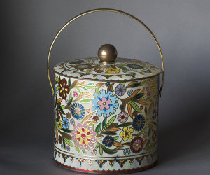 antique, floral, and flowers image