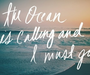 ocean and quote image