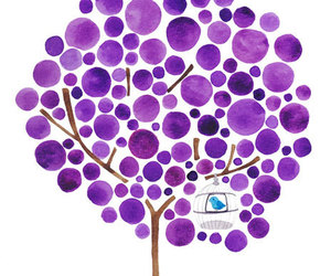 tree, purple, and bird image