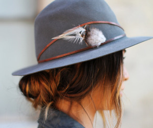 hat, girl, and style image