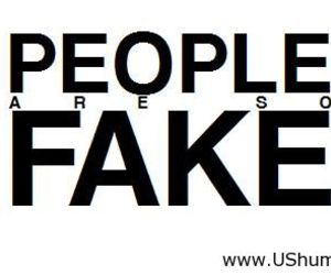 fake and people image