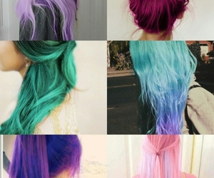 blue, colorful, and dip dye image