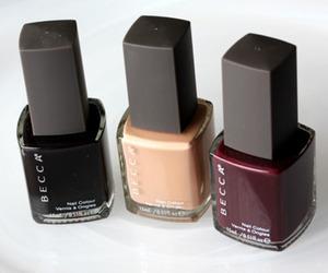 black and nail polish image