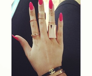 nails, rings, and chanel image
