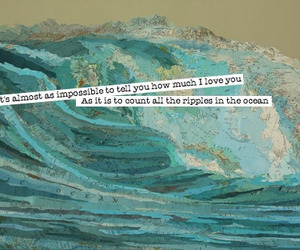 ocean, love, and quote image