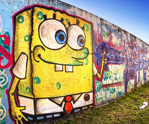 graffiti, spongebob, and sponge bob image
