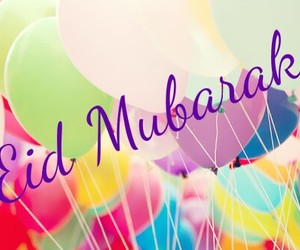 islam, muslim, and eid mubarak image
