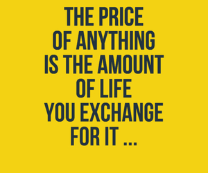 give, life, and price image