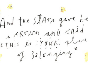 quotes, stars, and crown image