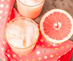 drink, pink, and grapefruit image