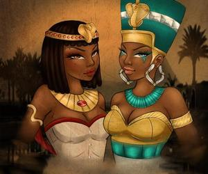 beautiful, cleopatra, and egypt image