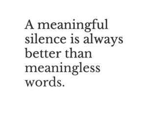 meaning, silence, and words image