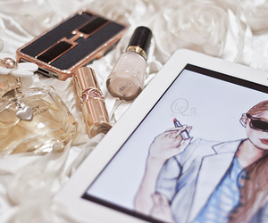 ipad, perfume, and girly image