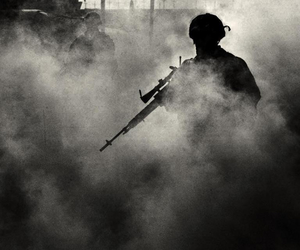 army, black, and military image