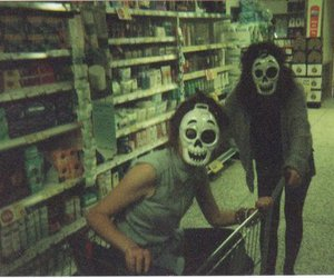 mask, friends, and skull image