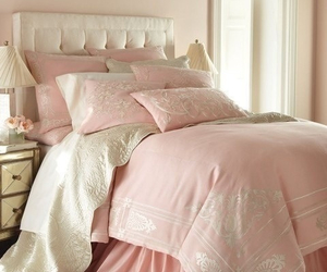 bedroom, pink, and soft image