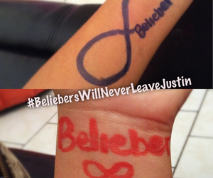 forever, infinite, and beliebers image