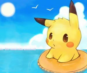 beach, pikachu, and yellow image