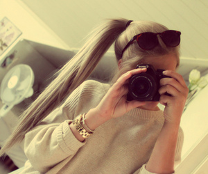 camera, hair, and style image