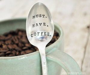 coffee, morning, and spoon image