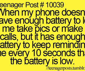 phone, quote, and battery image