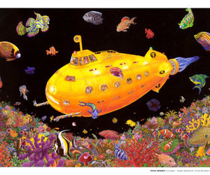 beatles, colorful, and yellow submarine image