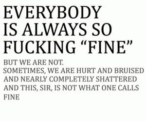 fine, quote, and hurt image